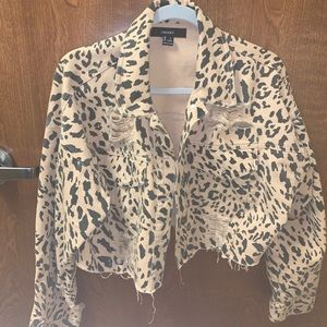 Chetta print jean jacket